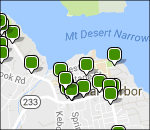 Interactive Acadia lodging map