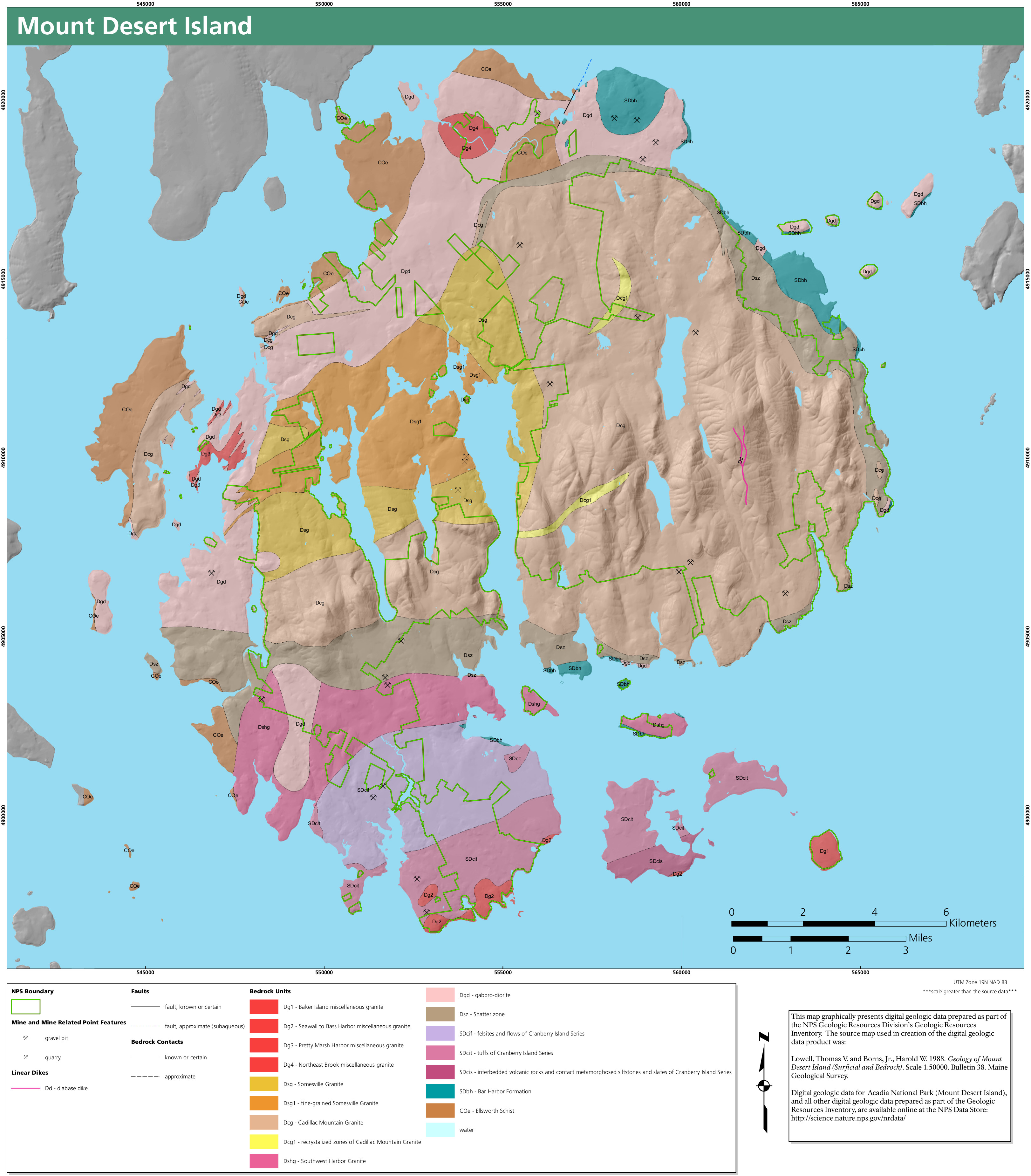 Acadia Maps NPMapscom Just Free Maps Period - Map of us national parks poster
