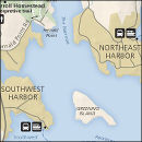 Acadia Southwest and Northeast Harbor graphic
