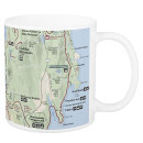 Acadia National Park map mug
