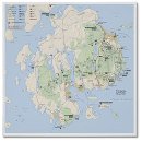 Acadia National Park map poster