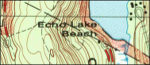 Acadia West topo map