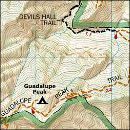 Purchase Guadalupe Mountains map from Amazon