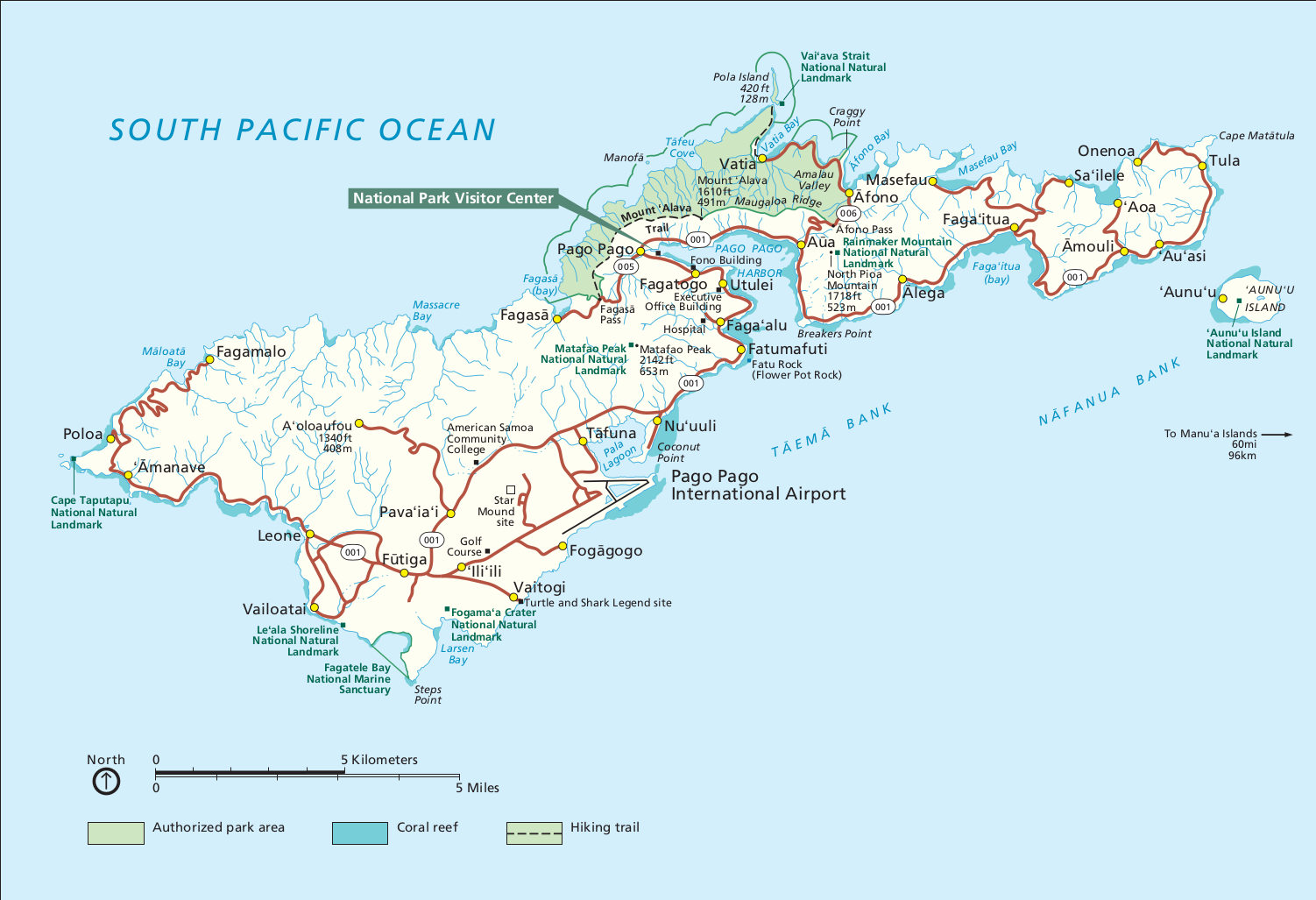 American Samoa Maps NPMapscom Just Free Maps Period - Map of hawaii in relation to us