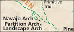 Arches Devils Garden map