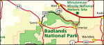 Badlands National Park regional map
