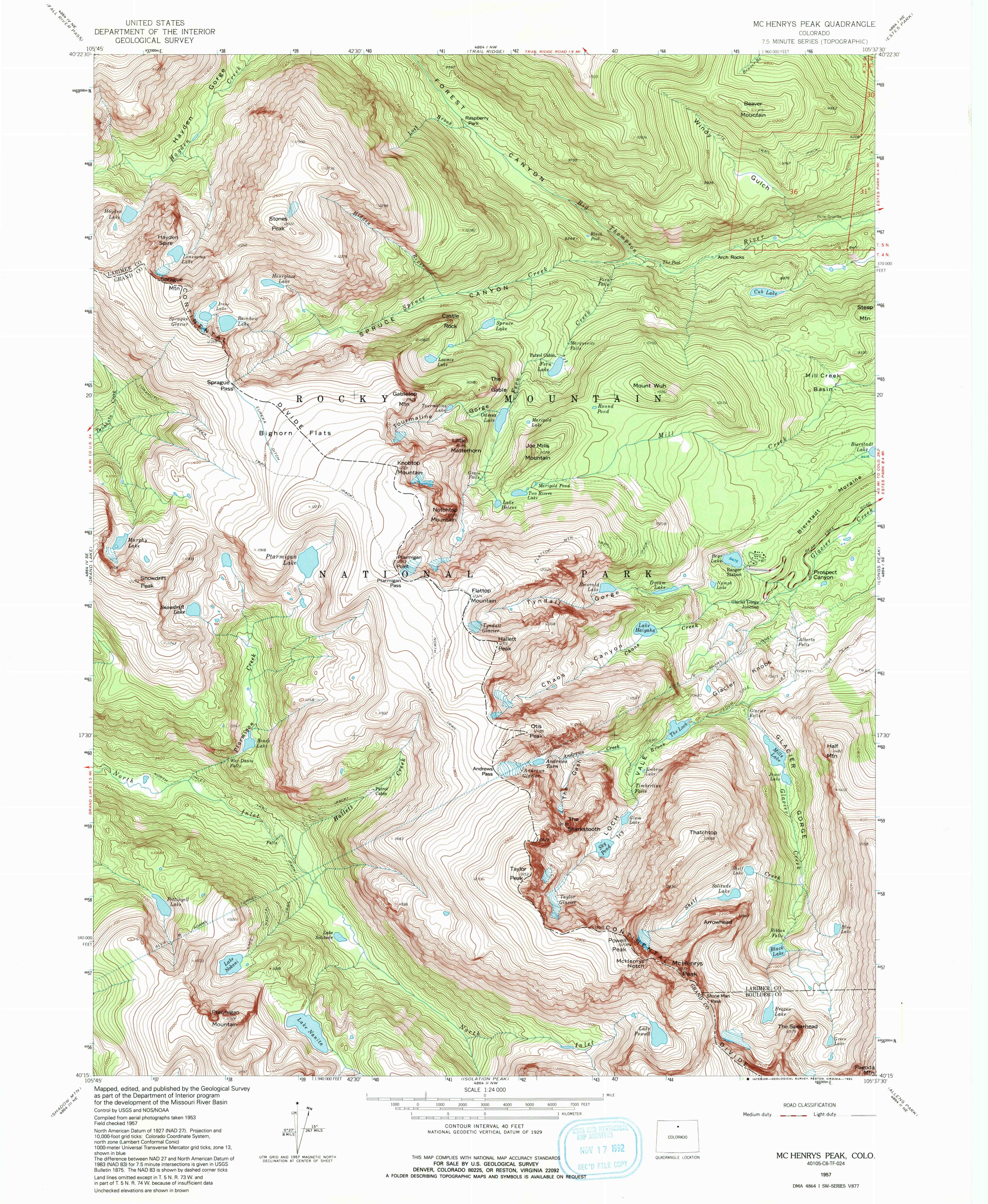 bear lake topo map