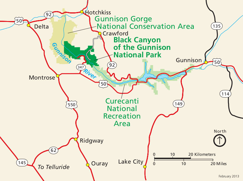 Black Canyon of the Gunnison Maps NPMapscom just free maps period