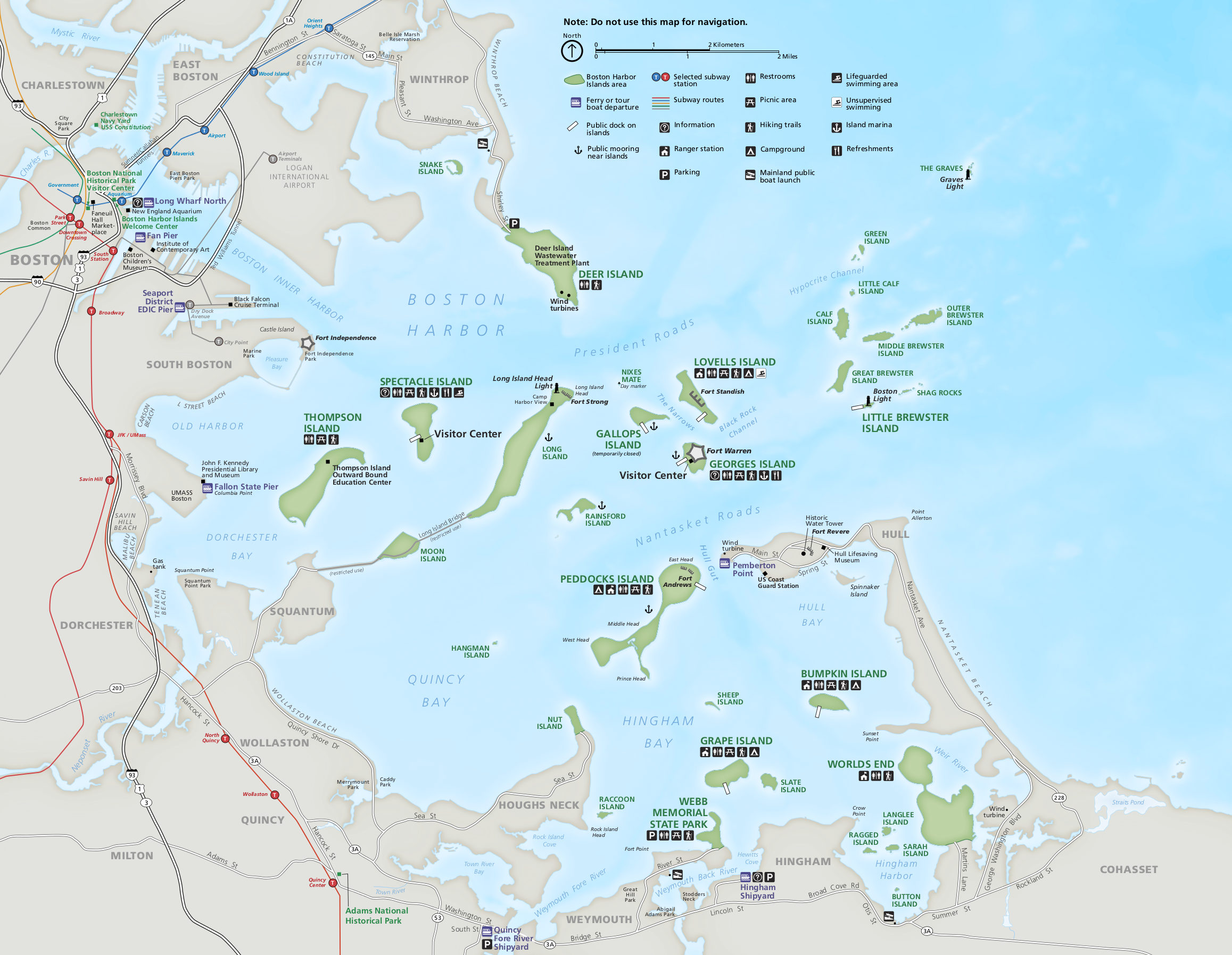 Boston Harbor Islands map with labels