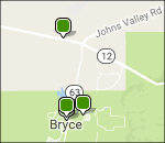 Interactive Bryce Canyon lodging map