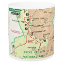 Bryce Canyon National Park map mug