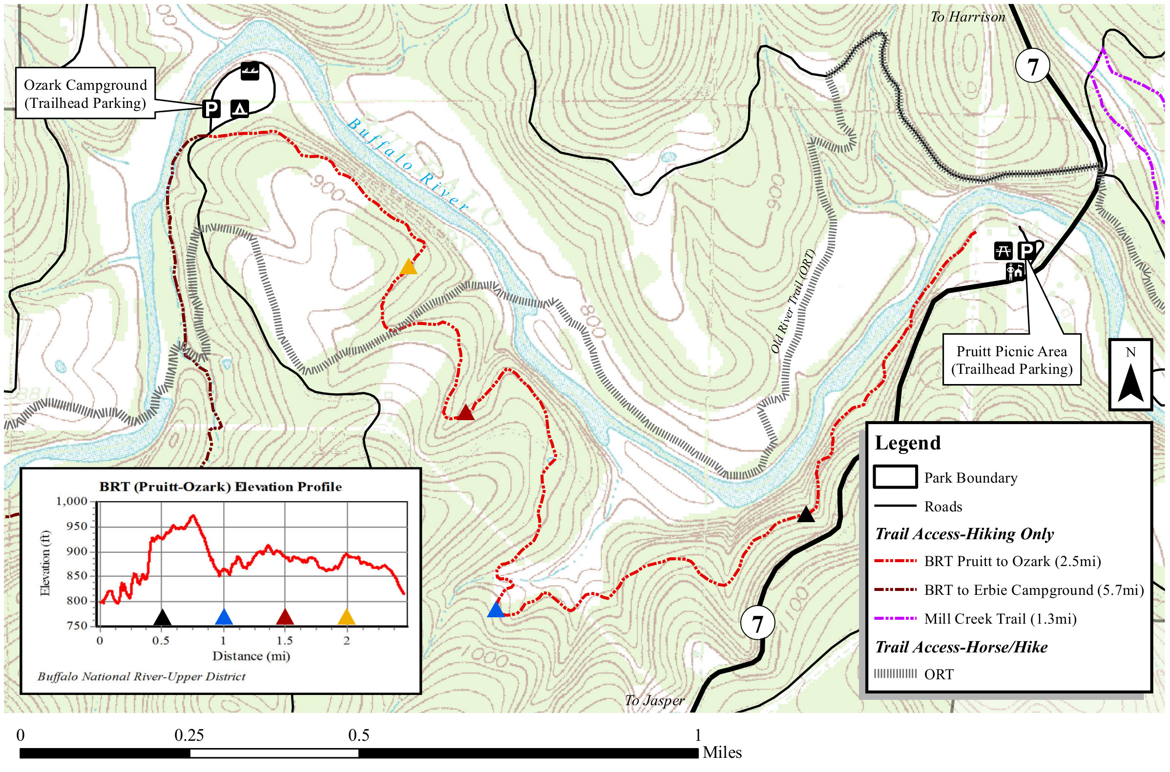 buffalo river trail map ozark to pruitt. buffalo river maps  npmapscom  just free maps period