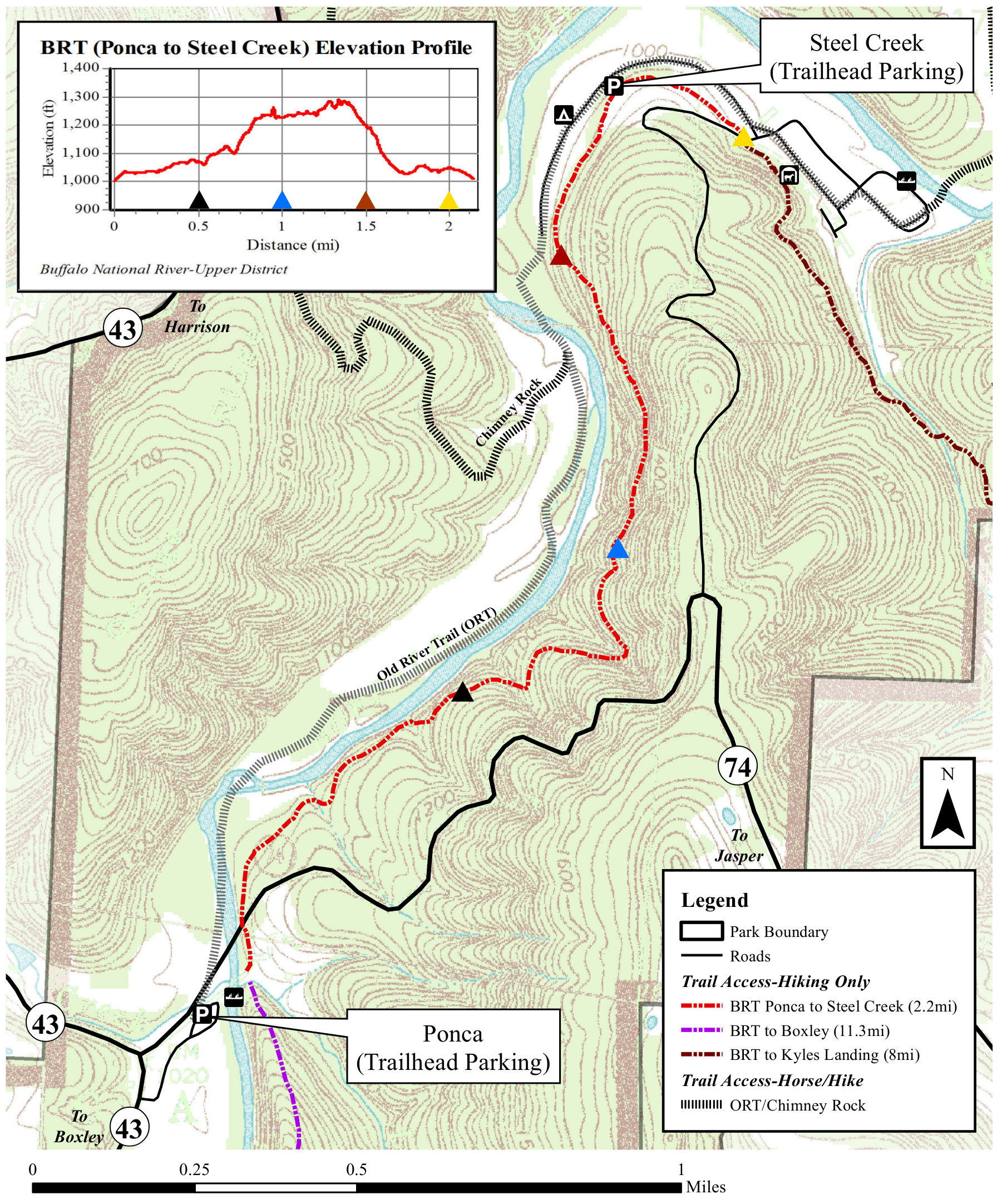buffalo river trail map ponca to steel creek. buffalo river maps  npmapscom  just free maps period