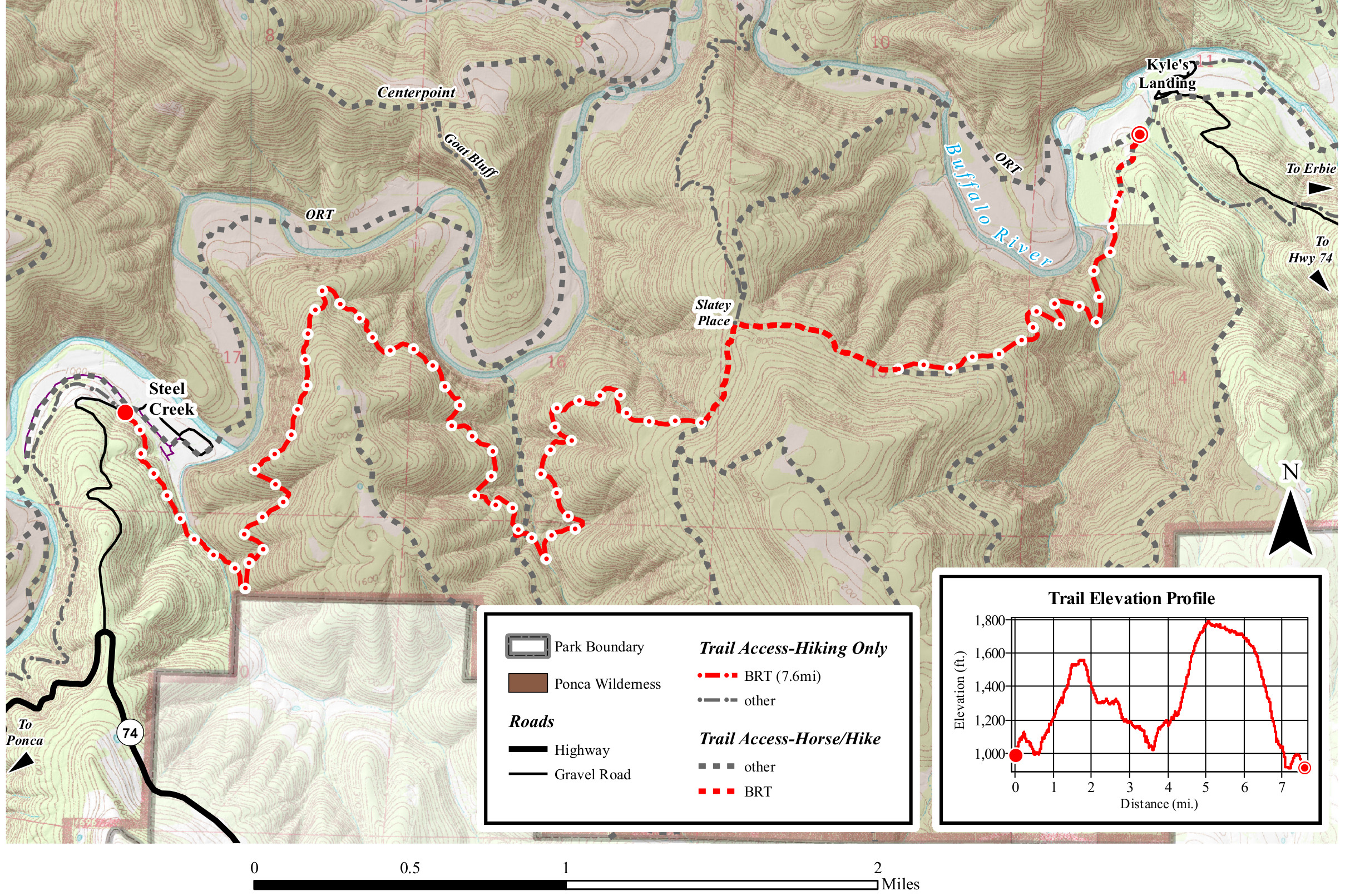 buffalo river trail map steel creek to kyle's landing. buffalo river maps  npmapscom  just free maps period