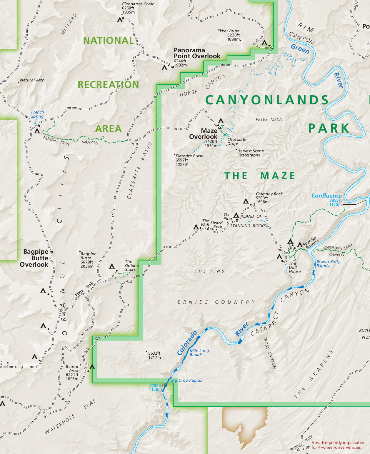 the maze utah map Canyonlands Maps Npmaps Com Just Free Maps Period