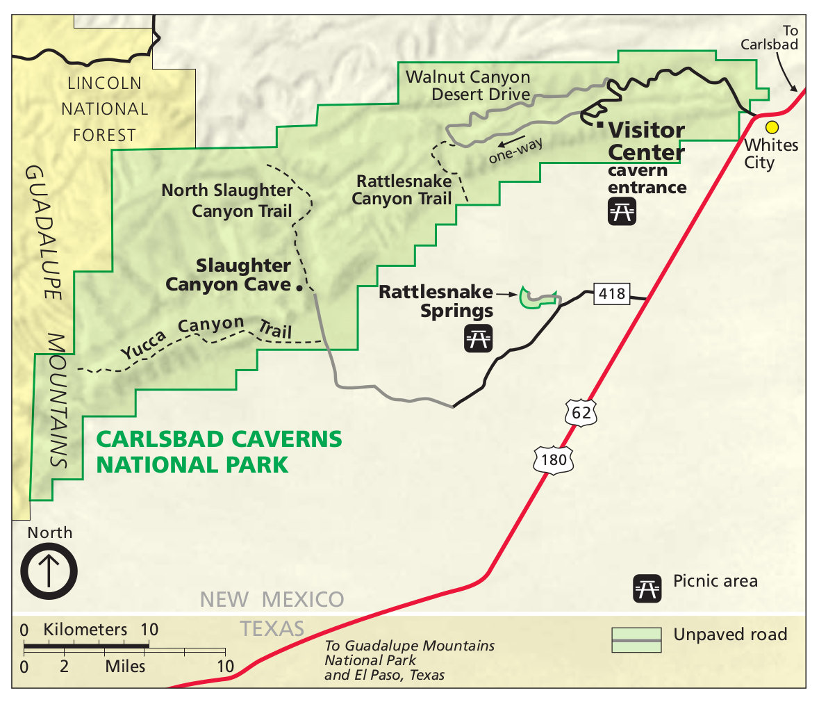 Carlsbad Caverns Maps NPMapscom just free maps period