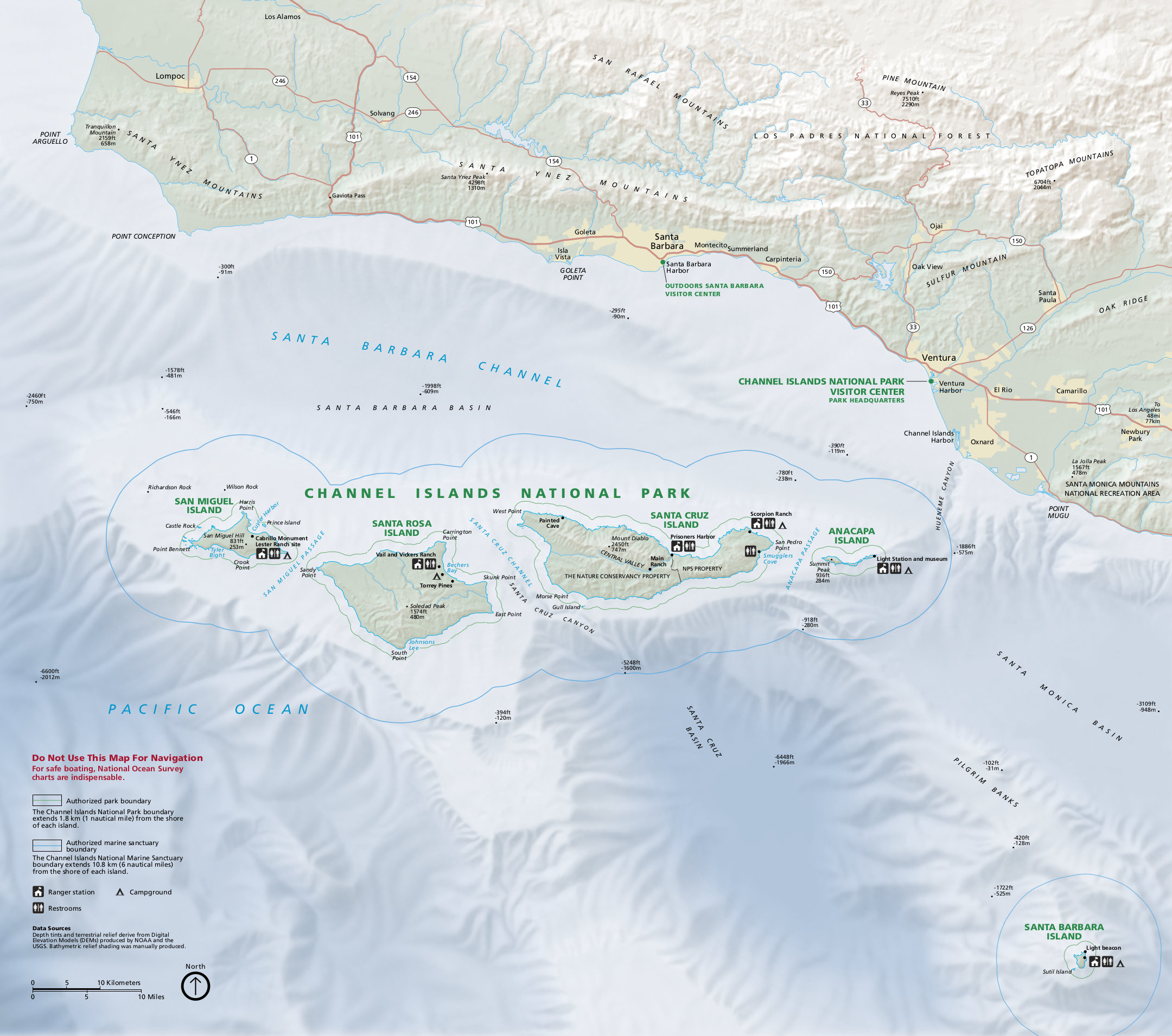 Channel Islands Maps NPMapscom just free maps period