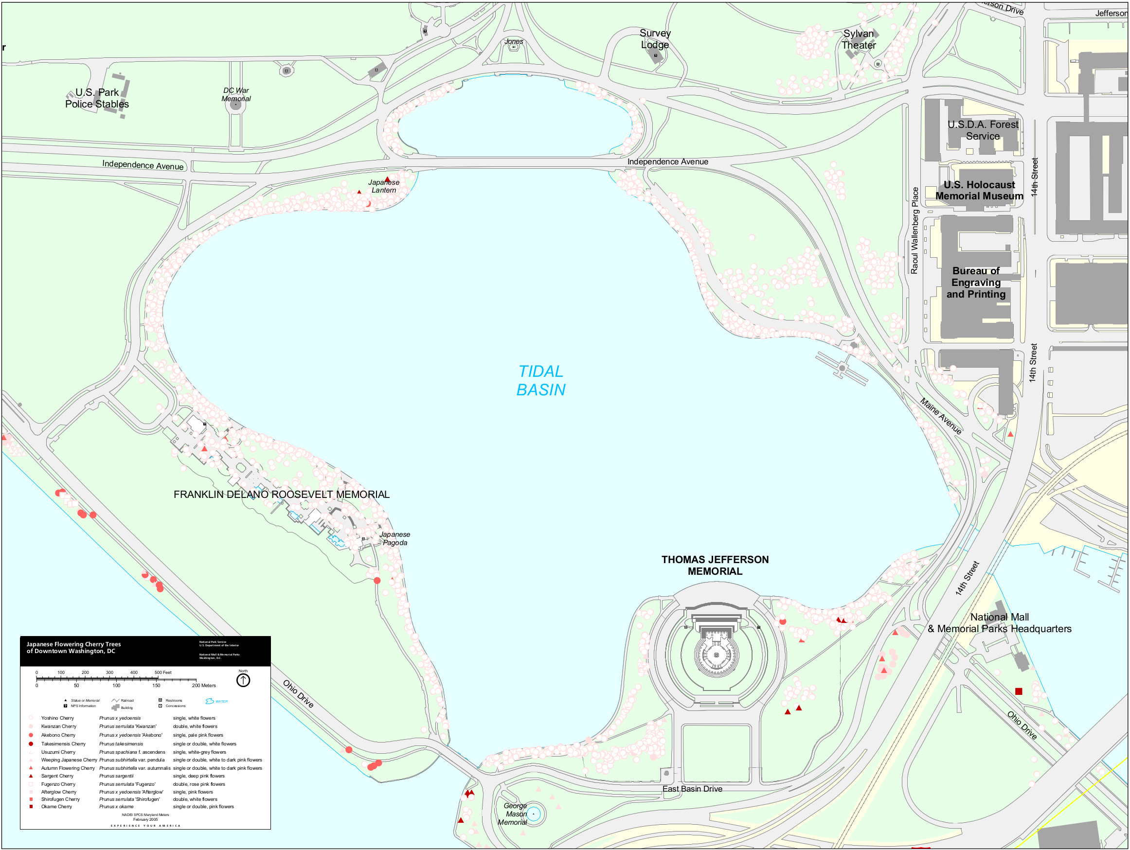 National Mall Maps NPMapscom Just Free Maps Period - Washington dc map of sites