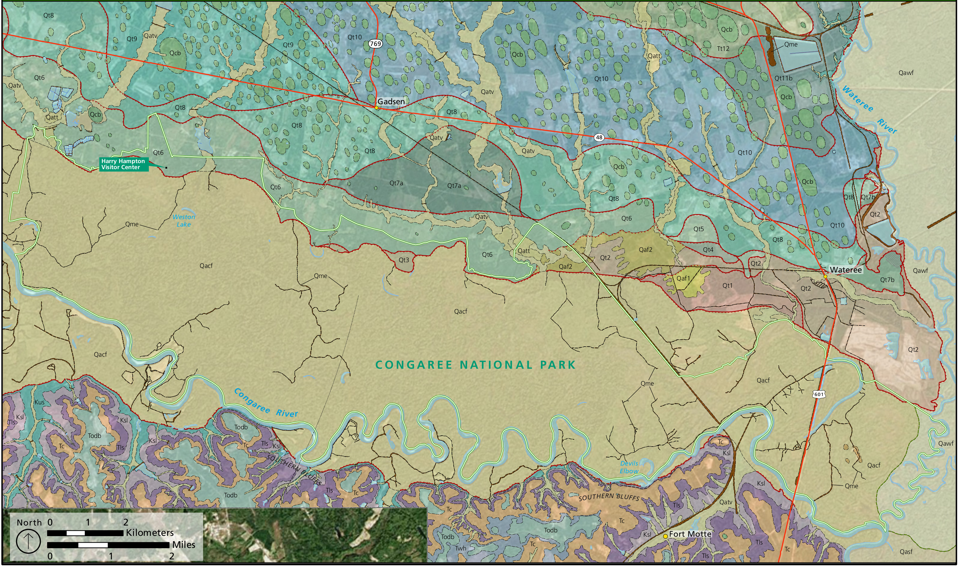 Congaree Maps NPMapscom just free maps period