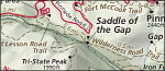 Cumberland Gap detail map