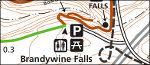 Cuyahoga Valley Brandywine Falls map