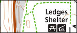 Cuyahoga Valley Ledges trail map