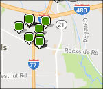 Cuyahoga Valley lodging map