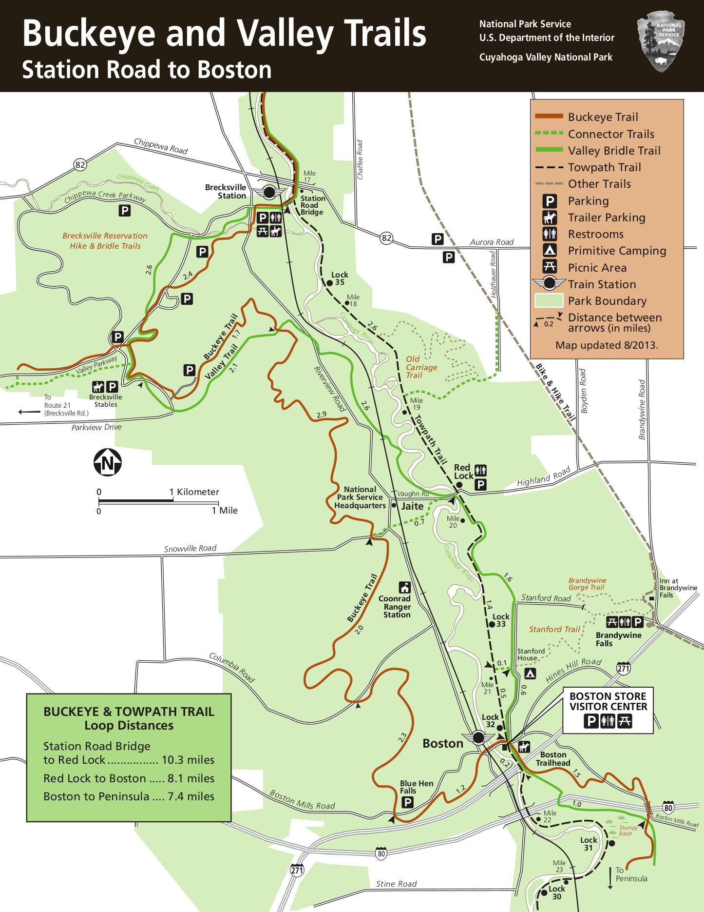 Cuyahoga Valley Maps NPMapscom just free maps period