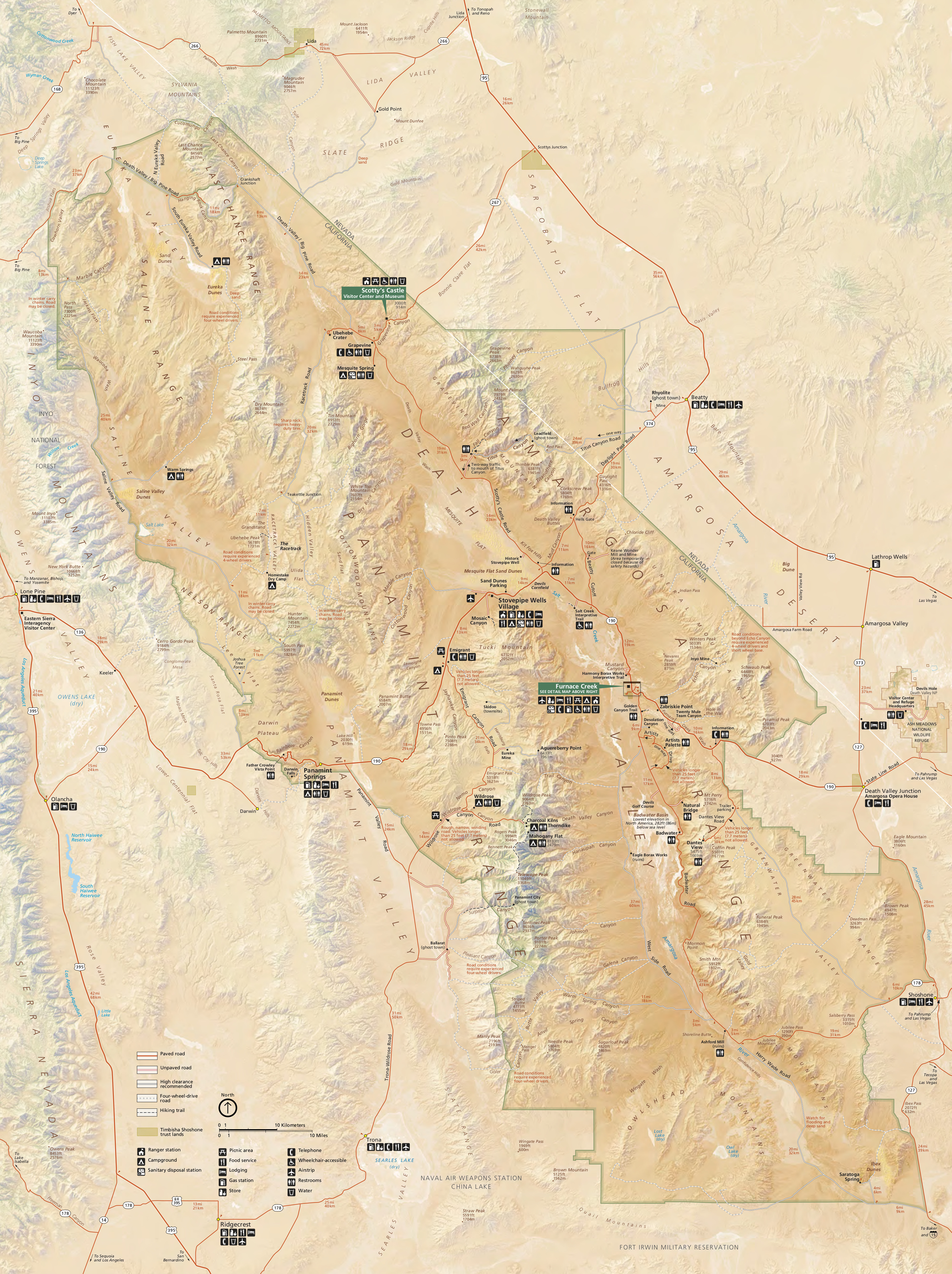 Death Valley Maps | NPMaps.com - just free maps, period.