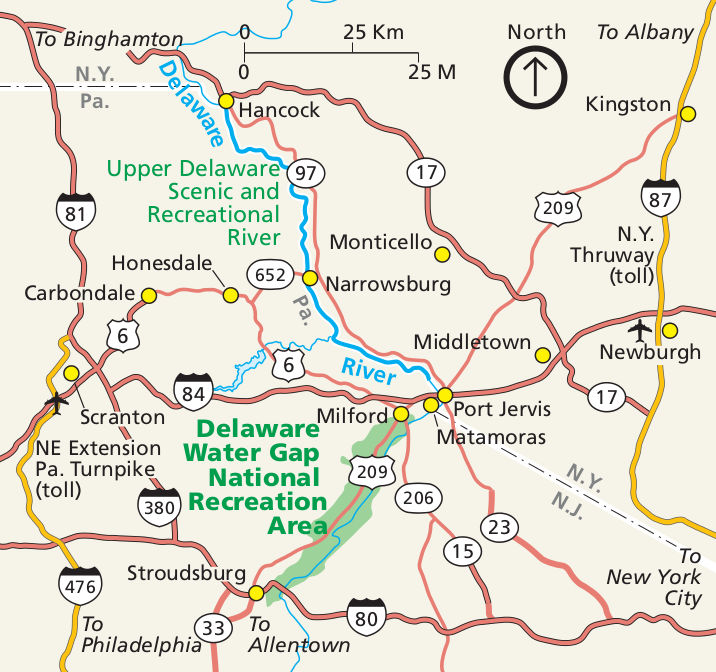 Delaware Water Gap Maps | NPMaps.com - just free maps, period. on
