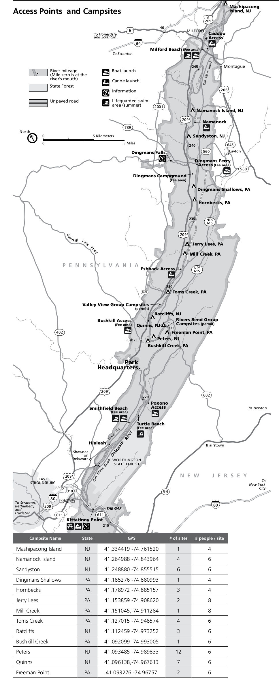Delaware Water Gap Maps just free maps period