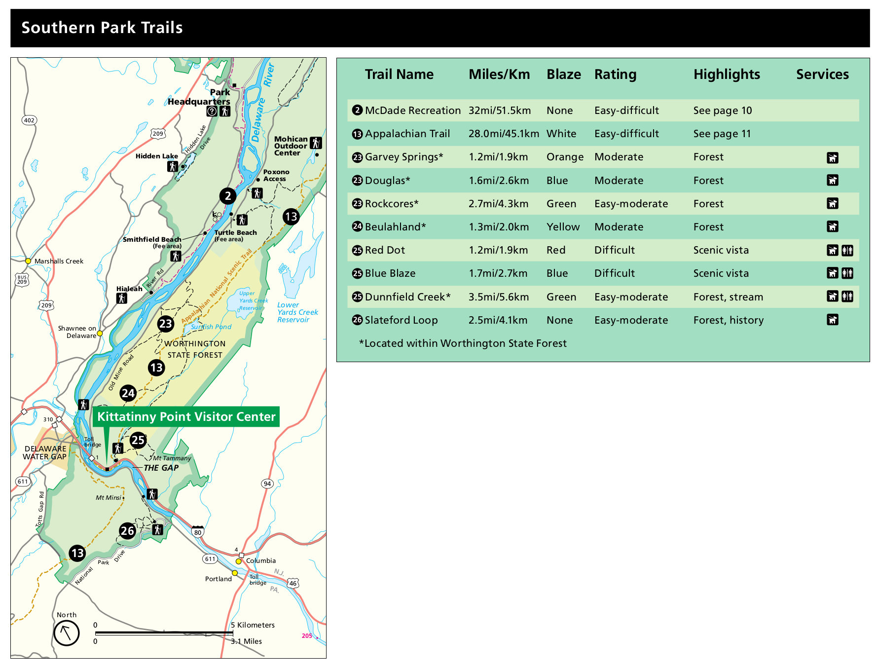 delaware water gap national recreation area map Delaware Water Gap Maps Npmaps Com Just Free Maps Period delaware water gap national recreation area map