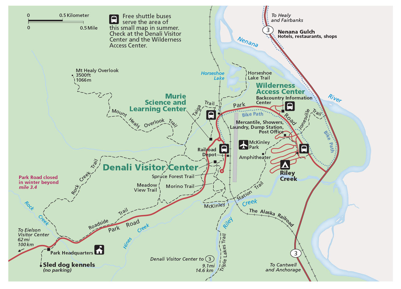 Denali Maps NPMapscom just free maps period