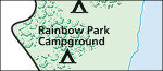 Dinosaur Rainbow Park campground map