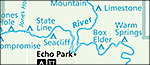 Green and Yampa river campsite map