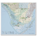 Everglades National Park map poster