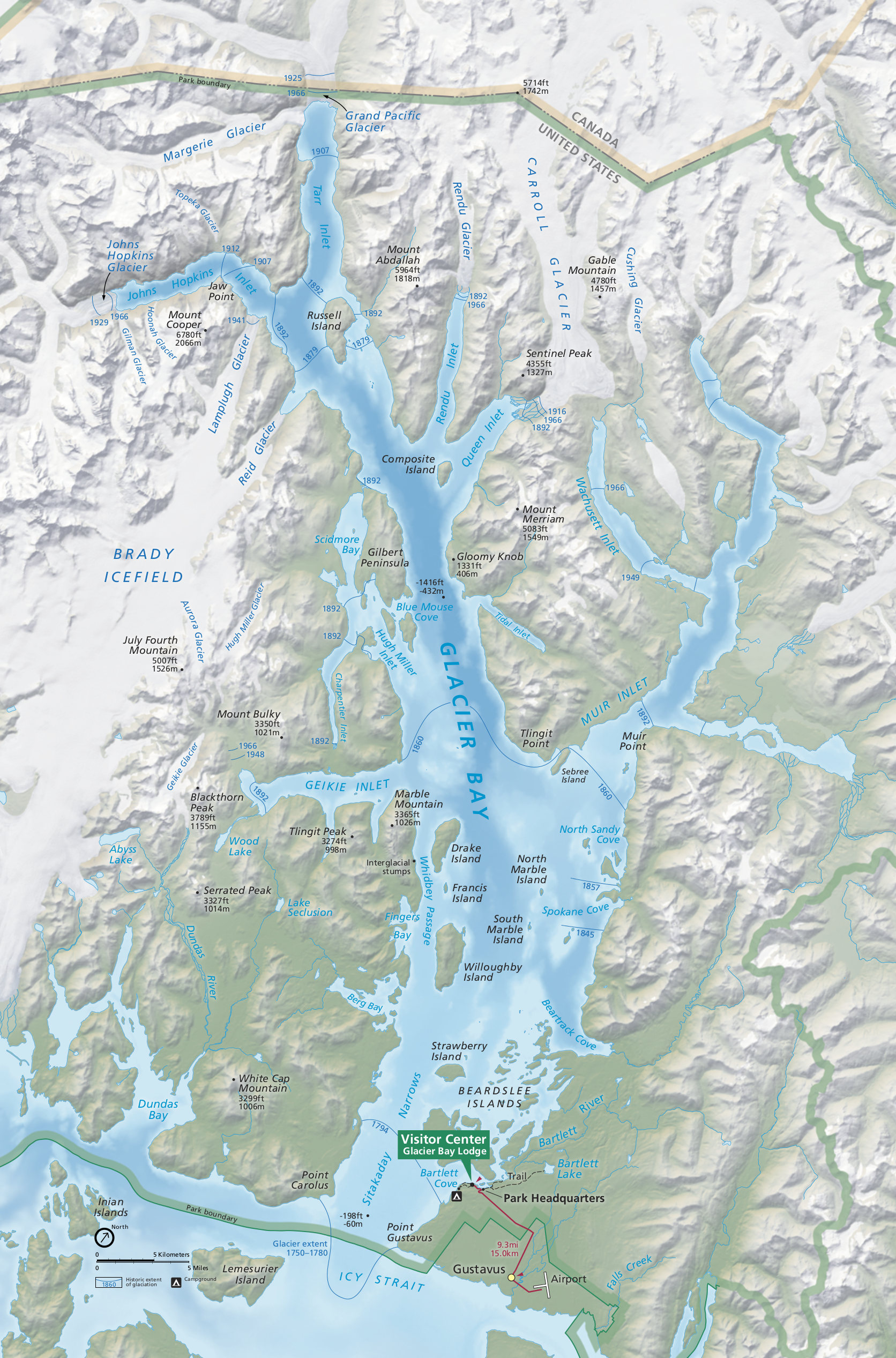 Glacier Bay Maps Npmaps Com Just Free Maps Period