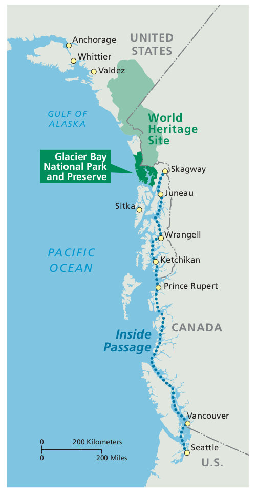Glacier Bay Maps | NPMaps.com - just free maps, period.