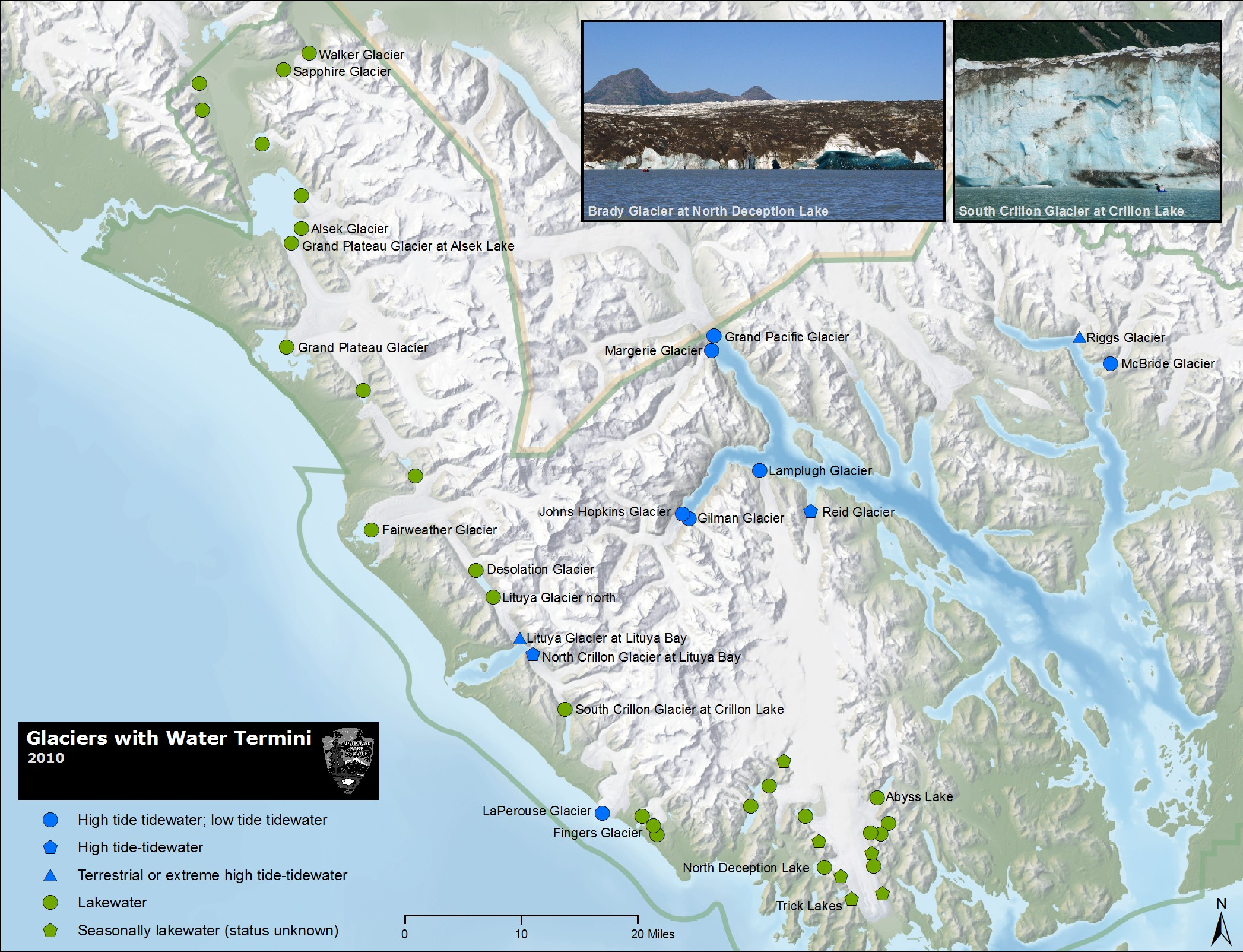 Glacier Bay Maps  NPMaps  Just Free Maps Period