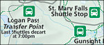 Glacier National Park shuttle bus map thumbnail