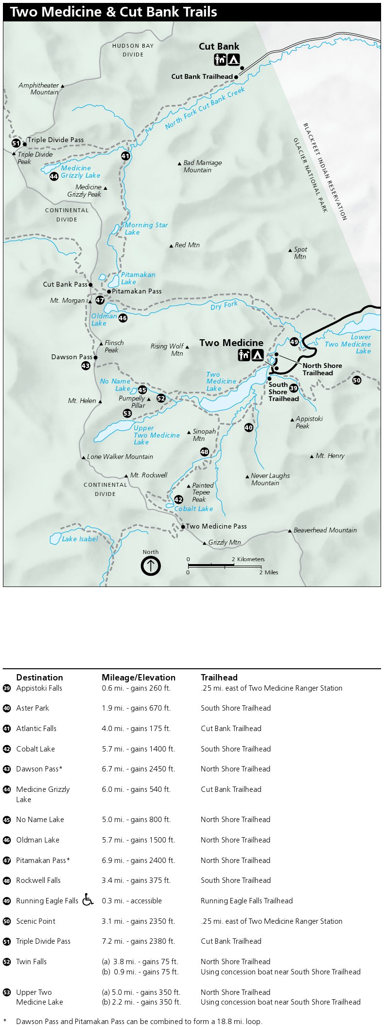 photo regarding Printable Map of Glacier National Park identified as Glacier Maps  - basically no cost maps, interval.
