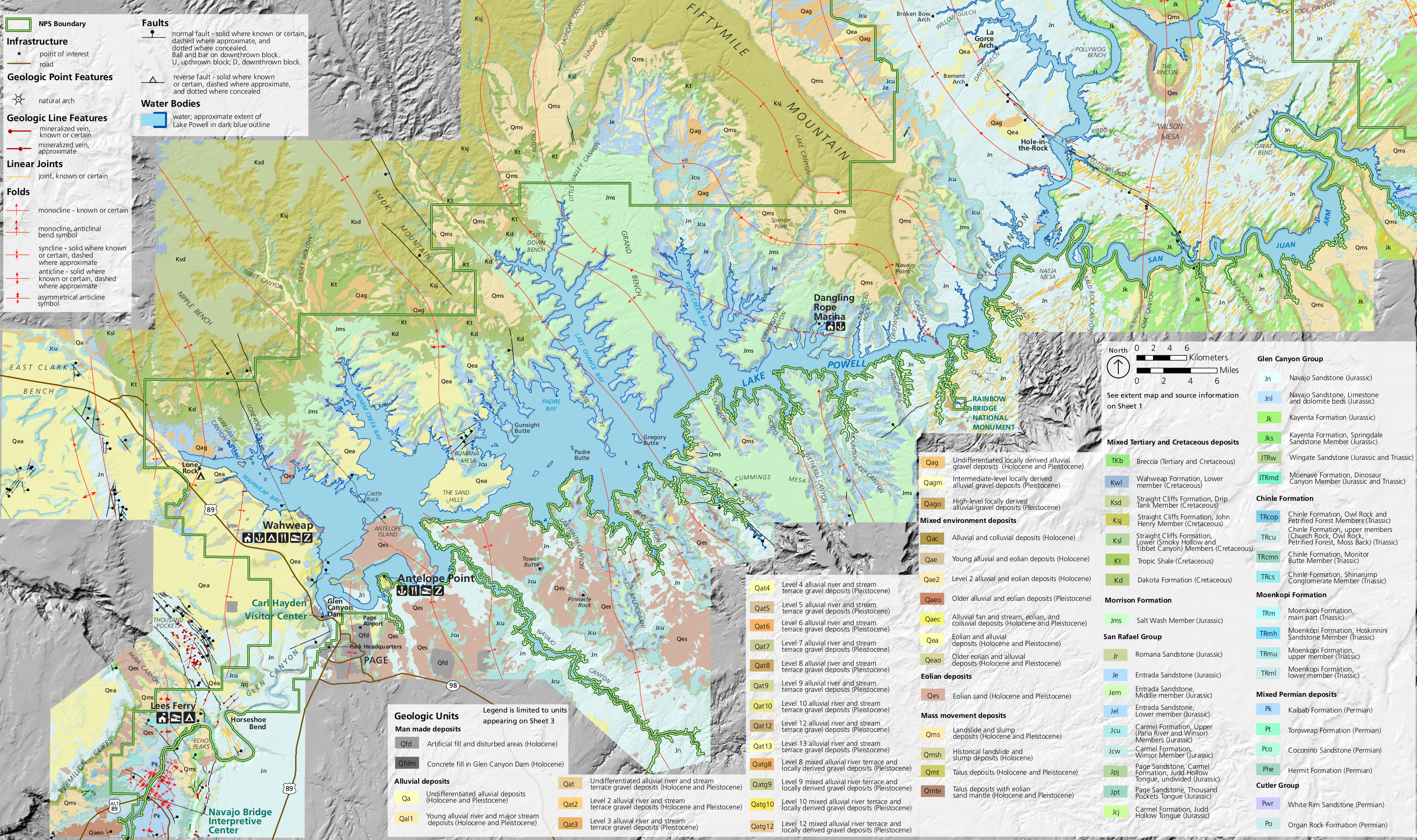 Lake Powell Maps NPMapscom just free maps period