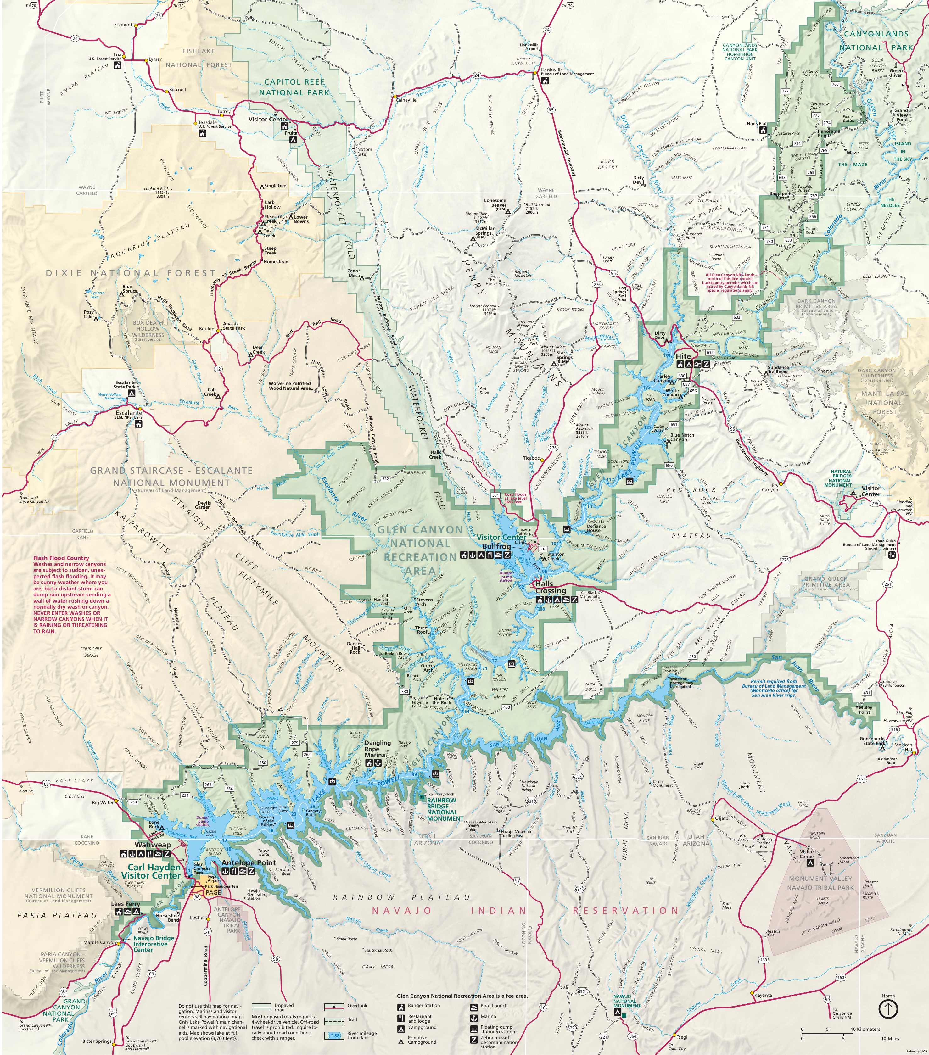 Glen Canyon Maps NPMapscom just free maps period