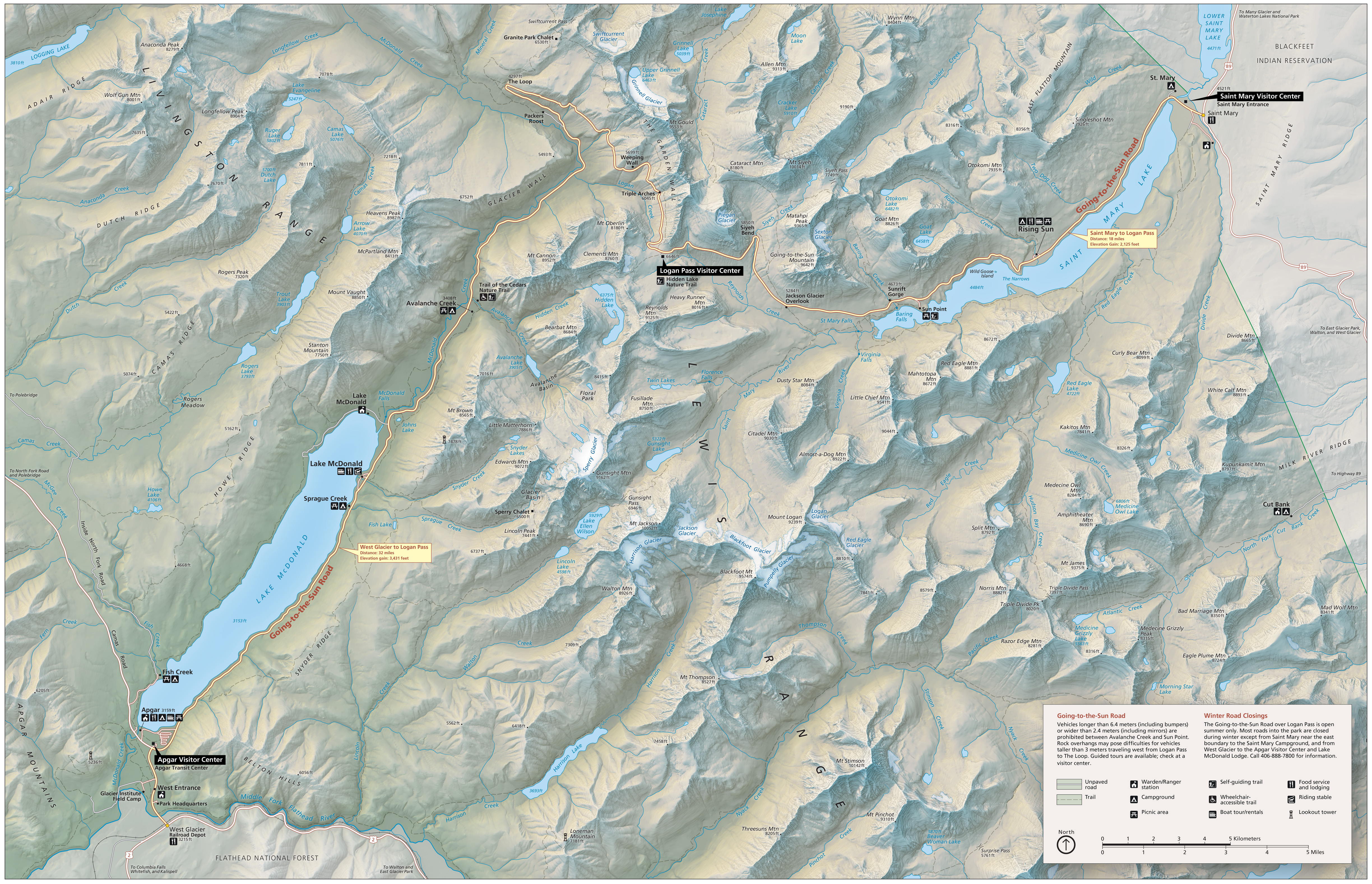Glacier Maps | NPMaps.com - just free maps, period. on arizona national parks maps, montana yellowstone national parks maps, alaskan national parks maps, yosemite backpacking trail maps,