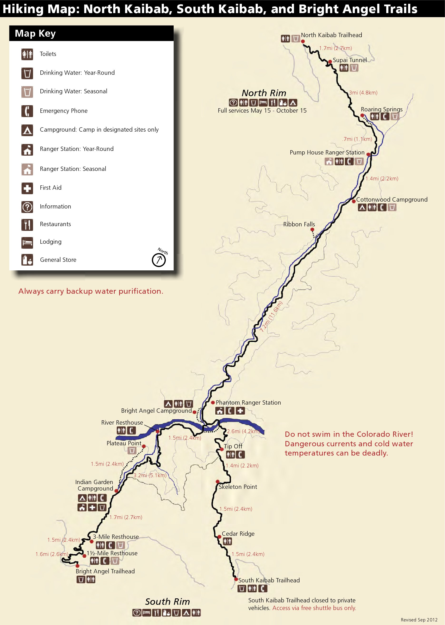 Grand Canyon Maps NPMapscom Just Free Maps Period - Us trails map