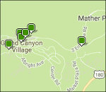 Interactive Grand Canyon lodging map