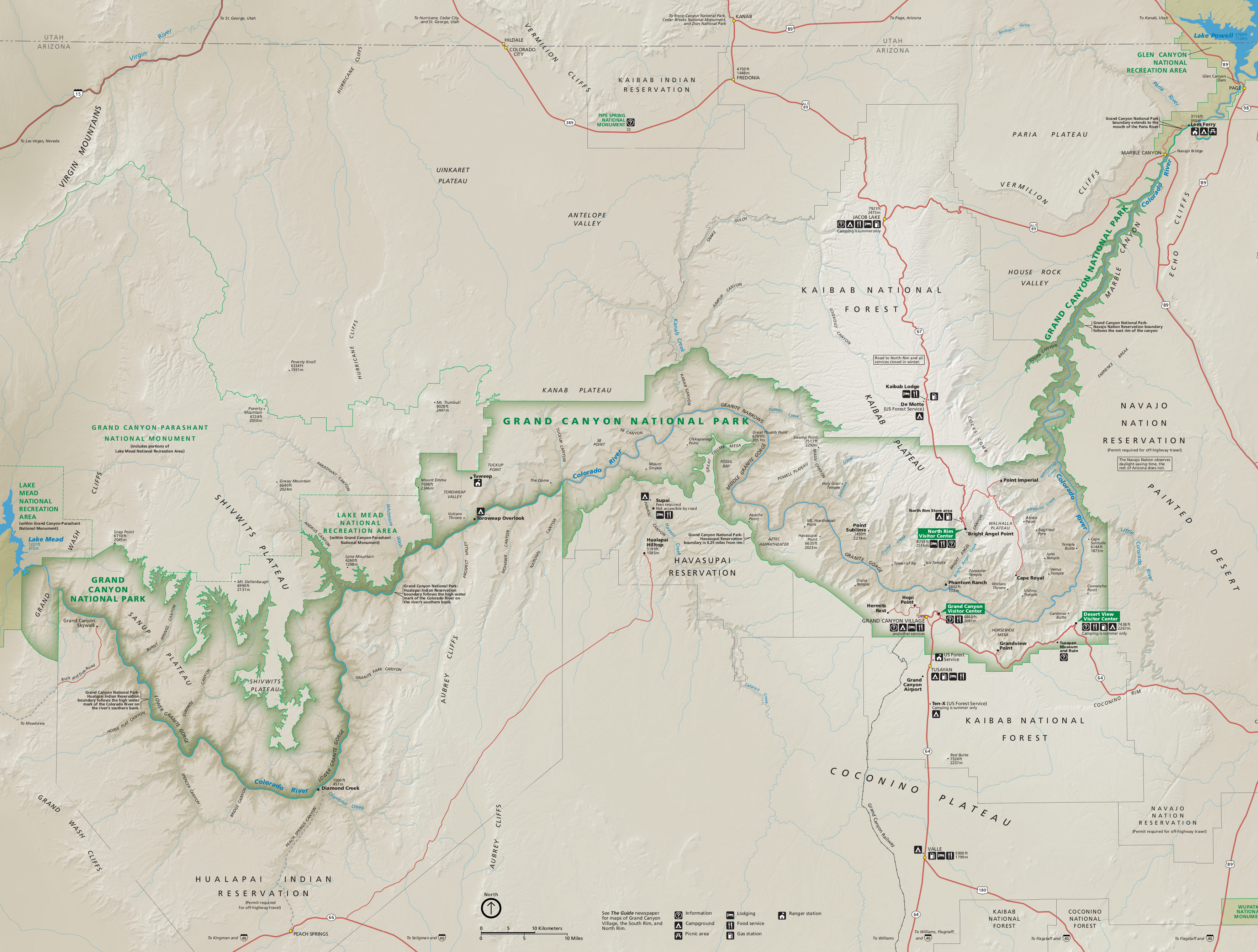 Grand Canyon Maps NPMapscom Just Free Maps Period - Us national parks interactive map