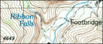 Grand Canyon north rim topo map