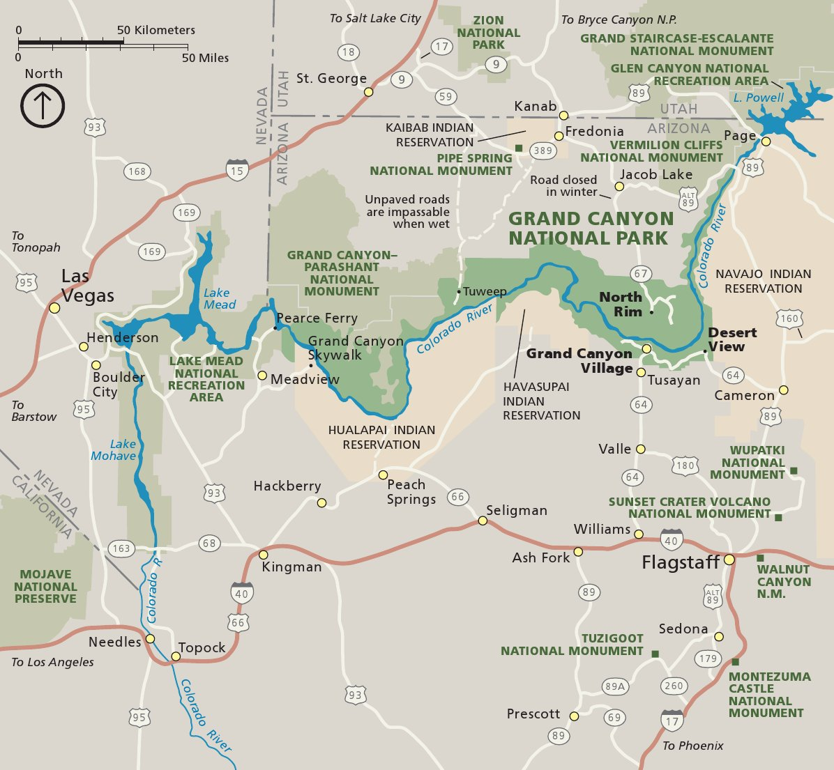 Super Grand Canyon Maps | NPMaps.com - just free maps, period. LU21