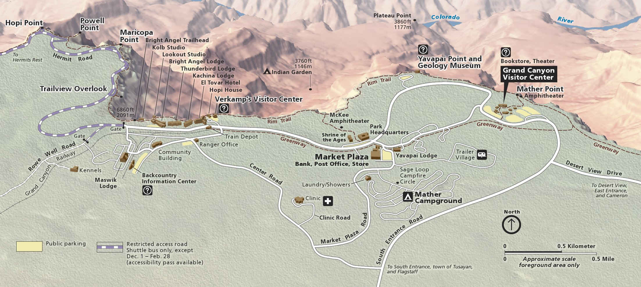 Grand Canyon Maps NPMapscom Just Free Maps Period - Las vegas grand canyon map